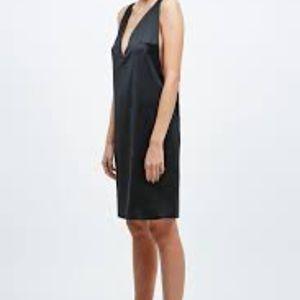 Solace London Rolson Mini Dress Black Satin NWT